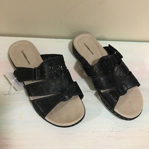 Black Croft & Barrow Sandals - 6 Med